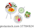 Breakfast clip art. Omelette. food. 37784924