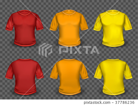 Red Orange And Yellow T Shirt Template