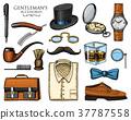 gentleman accessories. hipster or businessman 37787558