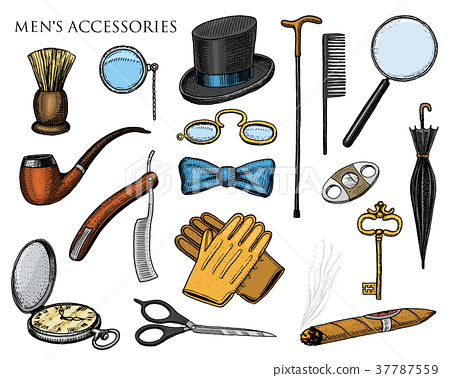 gentleman accessories. hipster or businessman 37787559