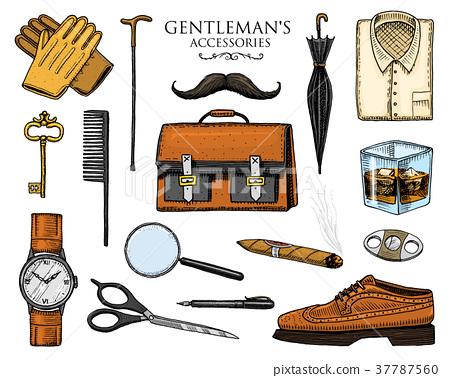 gentleman accessories set. hipster or businessman 37787560