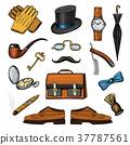 vector, accessories, set 37787561