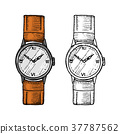 watch, wristwatch, vector 37787562