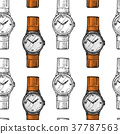 vector, watch, wristwatch 37787563