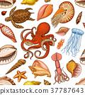 sea vector pattern 37787643