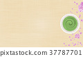 抹茶和櫻花背景 37787701