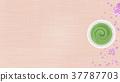 japanese tea, powdered green tea, cherry blossom 37787703
