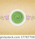 japanese tea, powdered green tea, cherry blossom 37787708