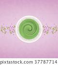 japanese tea, powdered green tea, cherry blossom 37787714