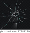 illustration of a broken, cracked, cracked glass 37788259