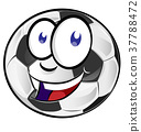 cartoon soccer ball 37788472