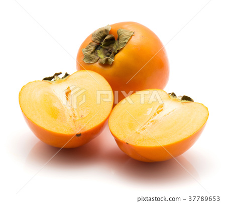 Persimmon sharon isolated on white 37789653