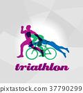 triathlon, vector, logo 37790299
