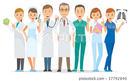 許多醫療專業人士都站著 37792840