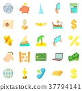 currency, icons, set 37794141