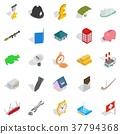 receiving, money, icons 37794368