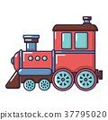 railroad, icon, cartoon 37795020