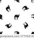 Camel pattern seamless black 37795618