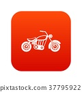 Motorcycle icon digital red 37795922