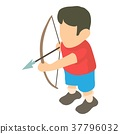 Archer icon, isometric 3d style 37796032