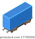 Wagon container icon, isometric 3d style 37796068