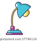 Reading lamp icon, cartoon style 37796116