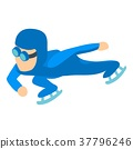 Speed skater icon, isometric 3d style 37796246