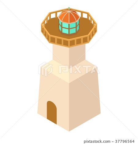 Lighthouse navigation icon, isometric 3d style 37796564