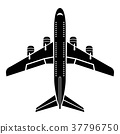 flying, plane, icon 37796750