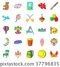 children, playground, icons 37796835