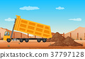 Dumping truck at the construction site 37797128