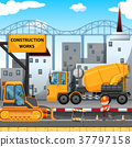 Construction works along the street 37797158