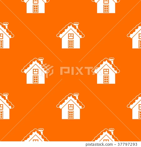 Small snowy cottage pattern seamless 37797293