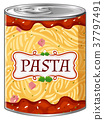 Italian pasta in aluminum can 37797491