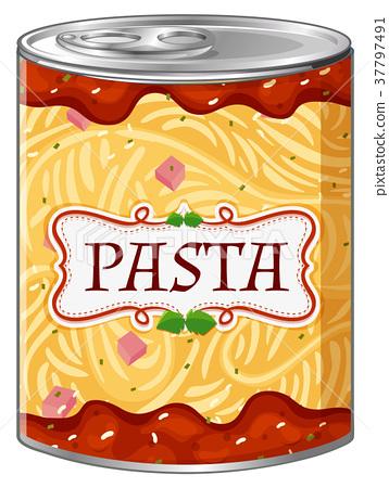 Italian pasta in aluminum can 37797491