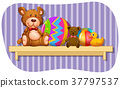 shelf, wood, bear 37797537