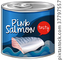 Pink salmon in aluminum can 37797557
