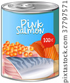 Pink salmon in aluminum can 37797571
