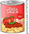 aluminum, pasta, sauce 37797573