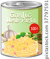 Garlic herb pasta in aluminum can 37797591