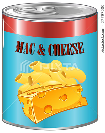 Mac and cheese in aluminum can 37797600