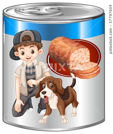 Meatloaf for pet dog in can 37797604