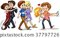 Three couples doing different activities 37797726