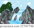 Waterfall at day time 37797796