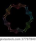 Group of Hands Together. Vector illustration 37797840