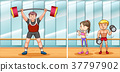 People working out in gym 37797902