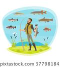 ตกปลา,ชาวประมง,ปลา 37798184