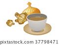 생강, 양파, 음료 37798471