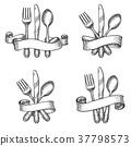vector, dinner, set 37798573
