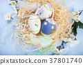 egg, flowers, nest 37801740